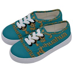 Chihuahua Kids  Classic Low Top Sneakers by Valentinaart