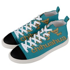 Chihuahua Men s Mid Top Canvas Sneakers by Valentinaart