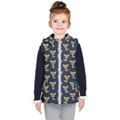Chihuahua Pattern Kid s Puffer Vest by Valentinaart