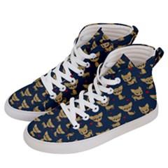 Chihuahua Pattern Men s Hi Top Skate Sneakers by Valentinaart