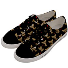 Chihuahua Pattern Men s Low Top Canvas Sneakers by Valentinaart