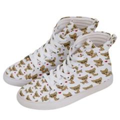 Chihuahua Pattern Women s Hi Top Skate Sneakers by Valentinaart