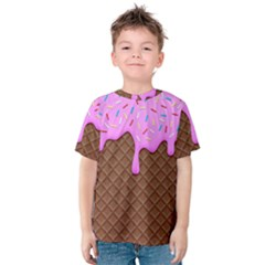 Chocolate And Strawberry Icecream Kids  Cotton Tee by jumpercat