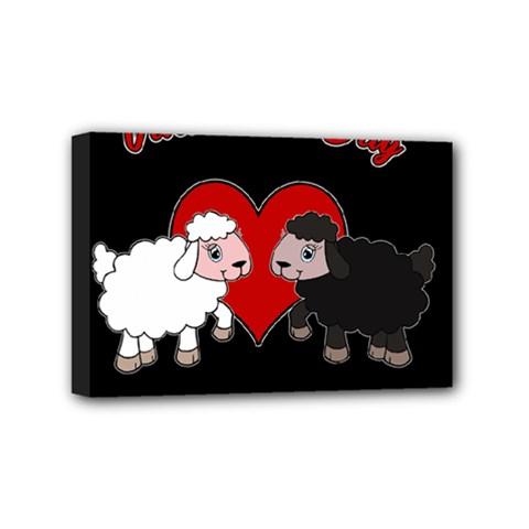 Valentines Day   Sheep  Mini Canvas 6  X 4  by Valentinaart
