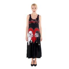 Valentines Day   Sheep  Sleeveless Maxi Dress