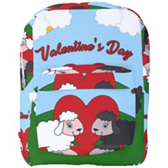 Valentines Day   Sheep  Full Print Backpack by Valentinaart