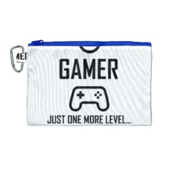 Gamer Canvas Cosmetic Bag (large) by Valentinaart