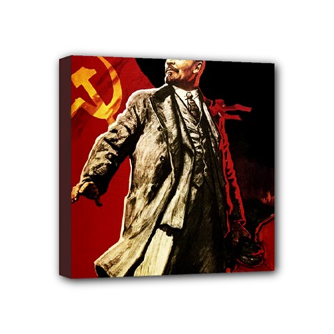 Lenin  Mini Canvas 4  X 4  by Valentinaart