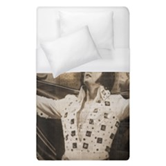Vintage Elvis Presley Duvet Cover (single Size) by Valentinaart