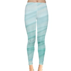 Texture Seawall Ink Wall Painting Leggings  by Nexatart