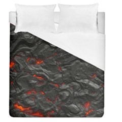 Rock Volcanic Hot Lava Burn Boil Duvet Cover (queen Size) by Nexatart