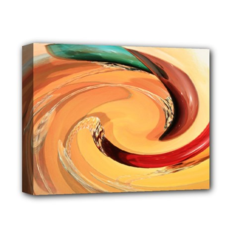 Spiral Abstract Colorful Edited Deluxe Canvas 14  X 11  by Nexatart