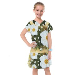 Summer Anemone Sylvestris Kids  Drop Waist Dress