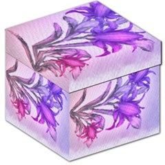 Flowers Flower Purple Flower Storage Stool 12   by Nexatart