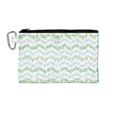 Wavy Linear Seamless Pattern Design  Canvas Cosmetic Bag (medium) by dflcprints