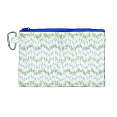 Wavy Linear Seamless Pattern Design  Canvas Cosmetic Bag (large) by dflcprints