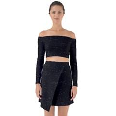 Sky Off Shoulder Top With Skirt Set
