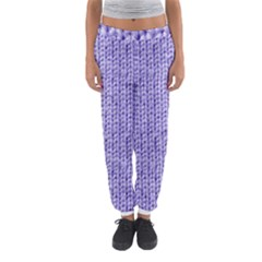 Knitted Wool Lilac Women s Jogger Sweatpants by vintage2030