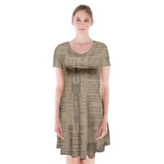 Background 1706636 1920 Short Sleeve V Neck Flare Dress by vintage2030
