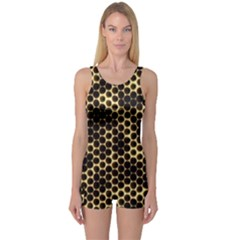 Honeycomb Beehive Nature One Piece Boyleg Swimsuit by Nexatart