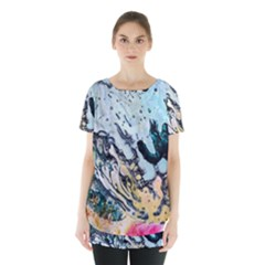 Abstract Structure Background Wax Skirt Hem Sports Top by Nexatart