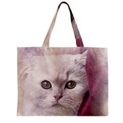 Cat Pet Cute Art Abstract Vintage Zipper Mini Tote Bag by Nexatart