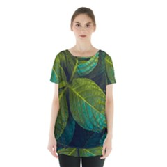 Green Plant Leaf Foliage Nature Skirt Hem Sports Top by Nexatart