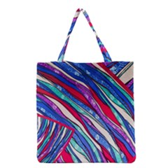 Texture Pattern Fabric Natural Grocery Tote Bag by Nexatart