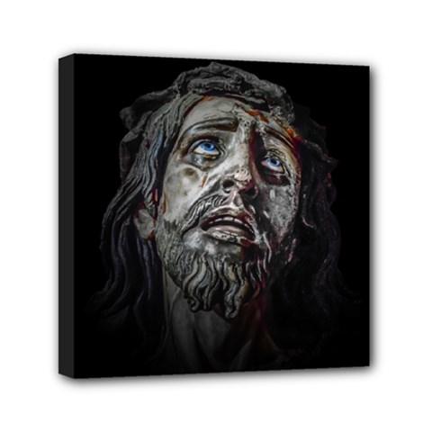 Jesuschrist Face Dark Poster Canvas Travel Bag by dflcprints