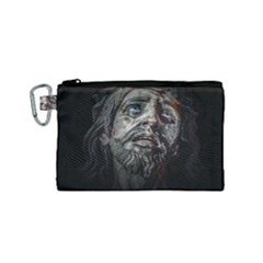 Jesuschrist Face Dark Poster Canvas Cosmetic Bag (small) by dflcprints