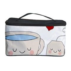 Cute Tea Cosmetic Storage Case by Valentinaart