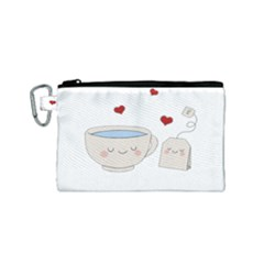 Cute Tea Canvas Cosmetic Bag (small) by Valentinaart
