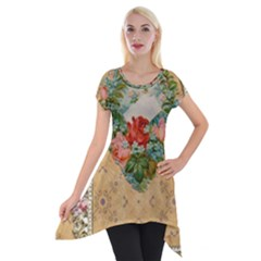 Valentine 1171144 1920 Short Sleeve Side Drop Tunic by vintage2030