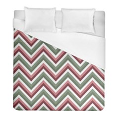 Chevron Blue Pink Duvet Cover (full/ Double Size) by vintage2030