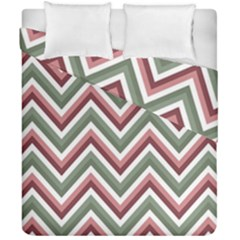 Chevron Blue Pink Duvet Cover Double Side (california King Size) by vintage2030