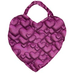 Shimmering Hearts Pink Giant Heart Shaped Tote by MoreColorsinLife