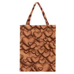 Shimmering Hearts Peach Classic Tote Bag by MoreColorsinLife