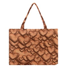 Shimmering Hearts Peach Medium Tote Bag by MoreColorsinLife