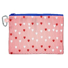 Heart Shape Background Love Canvas Cosmetic Bag (xl)
