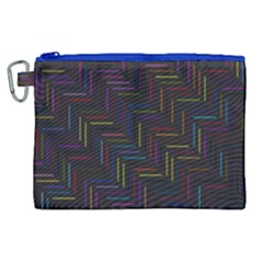 Lines Line Background Canvas Cosmetic Bag (xl)