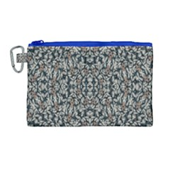 Ornate Pattern Mosaic Canvas Cosmetic Bag (large) by dflcprints