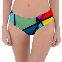 Modern Abstract Reversible Classic Bikini Bottoms by vwdigitalpainting