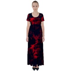 Anxiety High Waist Short Sleeve Maxi Dress by vwdigitalpainting