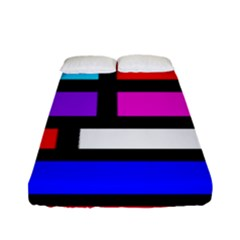 Dutch Modern Abstract Fitted Sheet (full/ Double Size)
