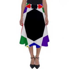 Compass Abstract Perfect Length Midi Skirt by vwdigitalpainting