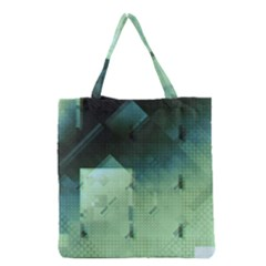 Mc Escher Inspired Fractal Pattern Grocery Tote Bag by douxsurmoi