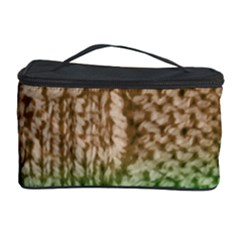 Knitted Wool Square Beige Green Cosmetic Storage Case by snowwhitegirl