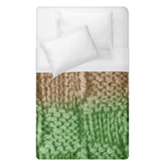 Knitted Wool Square Beige Green Duvet Cover (single Size) by snowwhitegirl