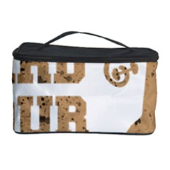 Work Hard Your Bones Cosmetic Storage Case by Melcu