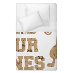 Work Hard Your Bones Duvet Cover (single Size) by Melcu
